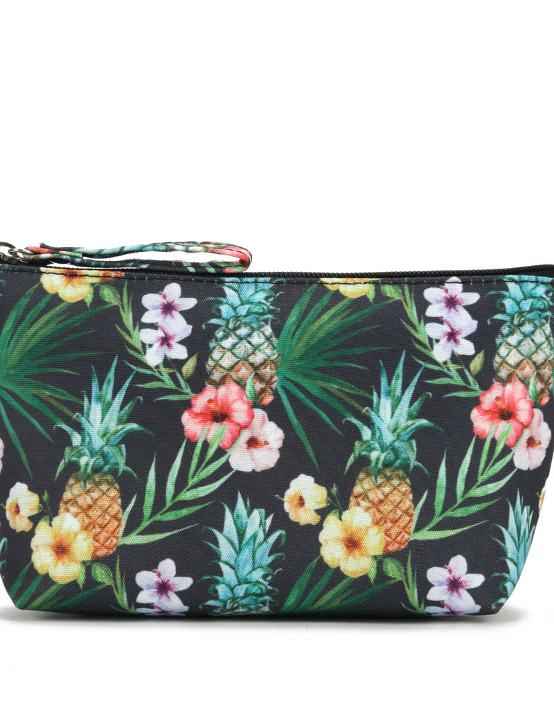 Everyday Hawaii EH Nylon Pouch Sml Pineapple Black