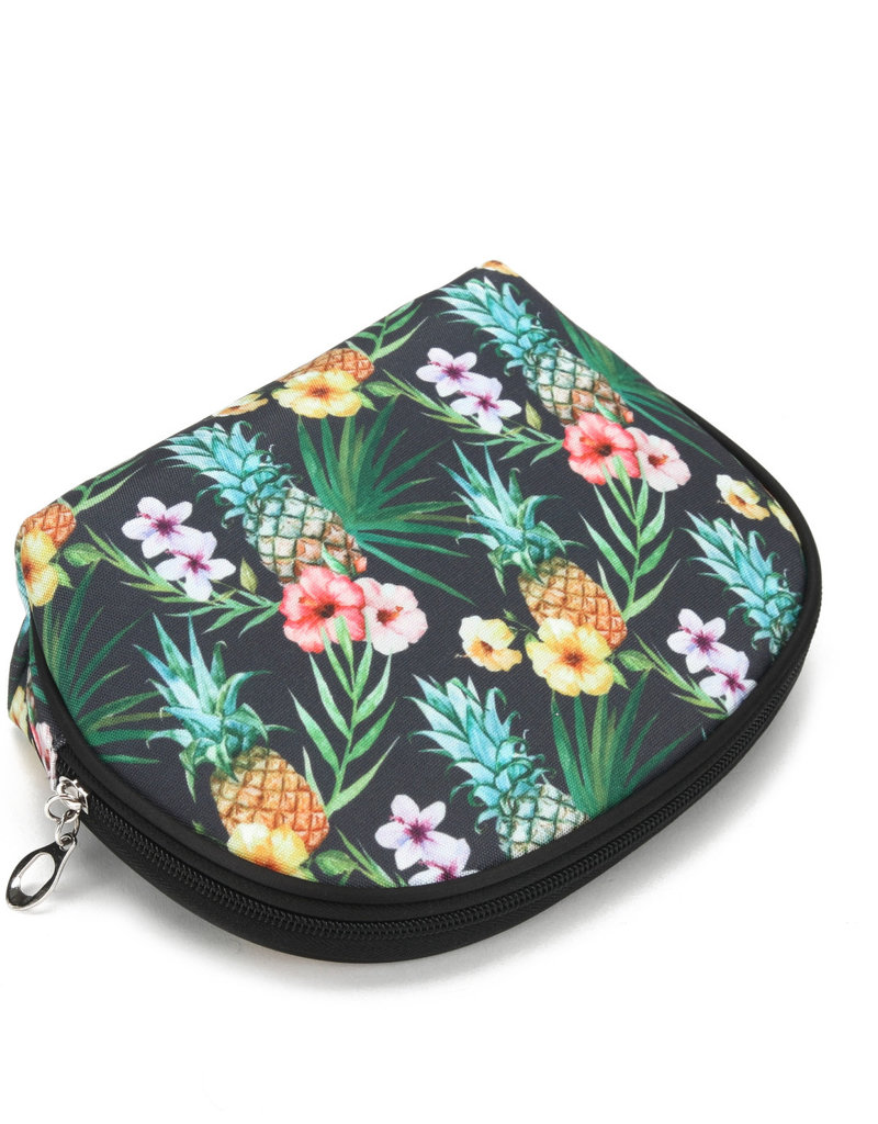 Everyday Hawaii EH Nylon Pouch Rnd Pineapple Black