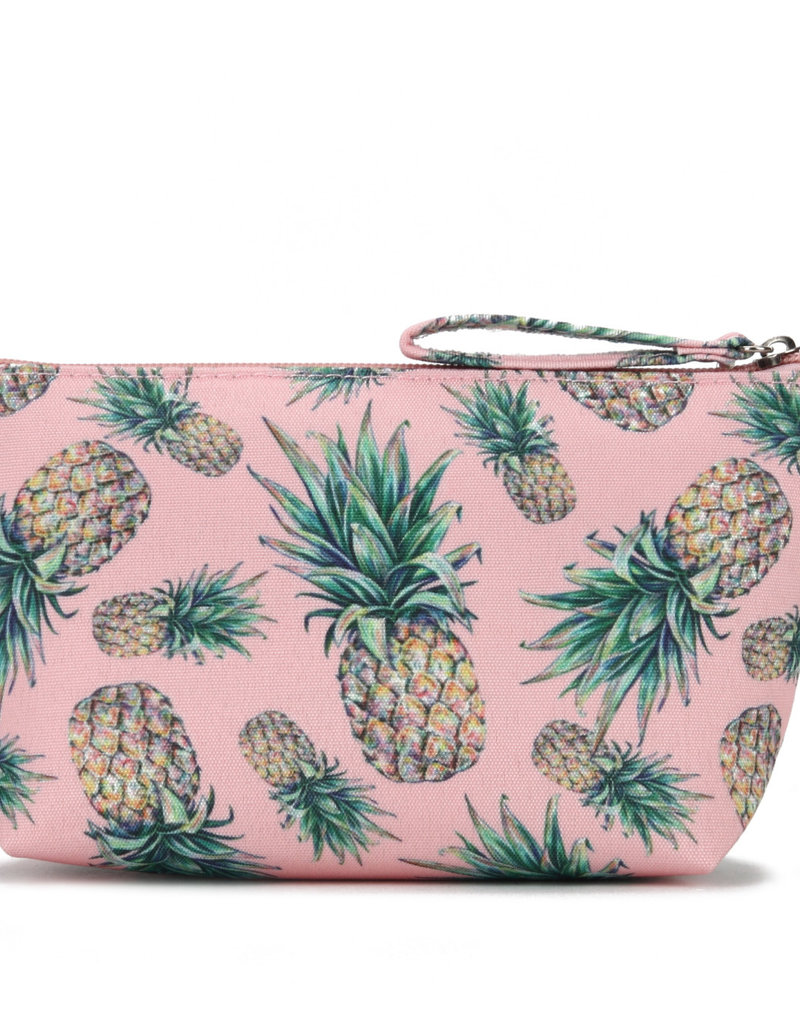 Everyday Hawaii EH Nylon Pouch Sml Pineapple Pink