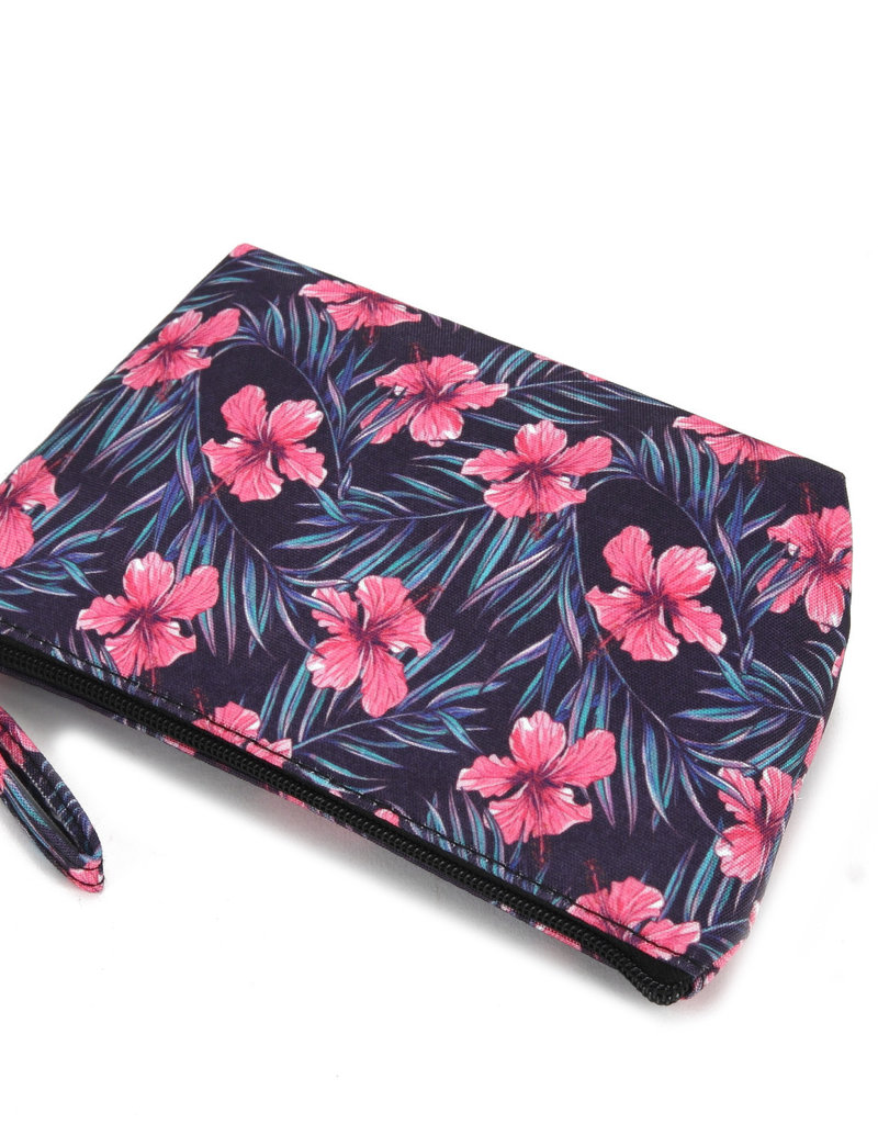 Everyday Hawaii EH Nylon Pouch Sml Hibiscus Pink