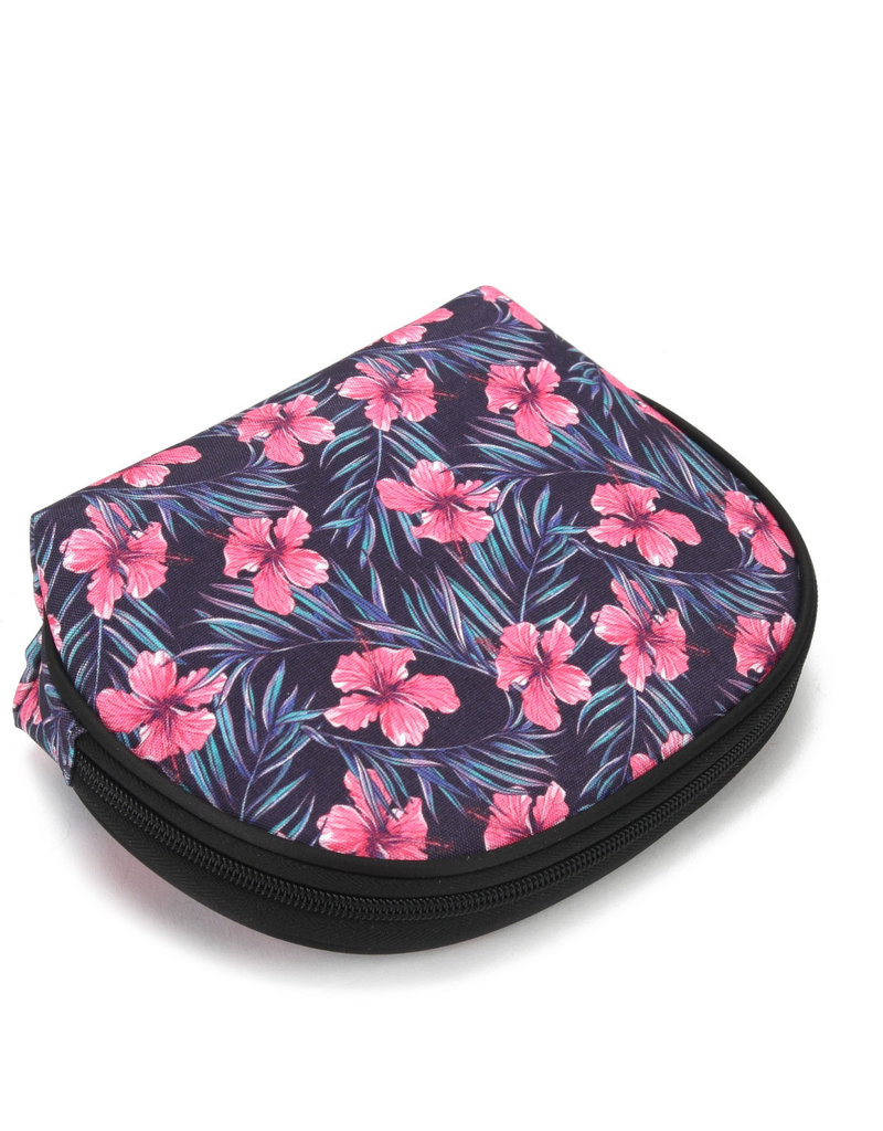 Everyday Hawaii EH Nylon Pouch Rnd Hibiscus Pink