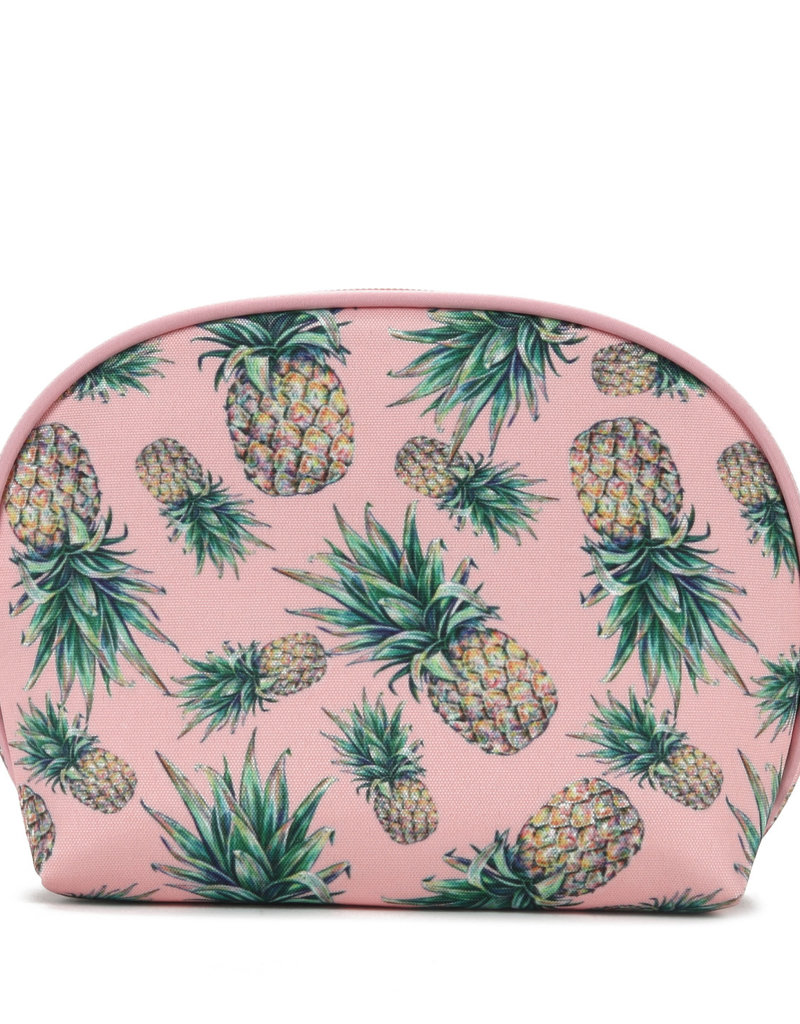 Everyday Hawaii EH Nylon Pouch Rnd Pineapple Pink