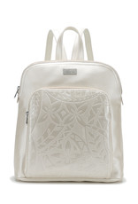 Happy Wahine Backpack Sasha Tapa Ivory Embossed