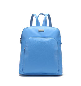 Happy Wahine Backpack Sasha Tapa Sky Blue Embossed