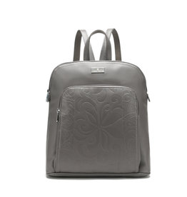 Happy Wahine Backpack Sasha Tapa Tiare Embossed Grey