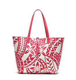 Happy Wahine Rev Tote Nancy Large Tapa Pink