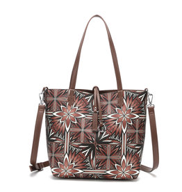 Happy Wahine Rev Tote Nancy Small Golden Lavi Brown
