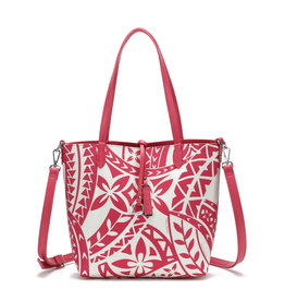 Happy Wahine Rev Tote Nancy Small Tapa Pink