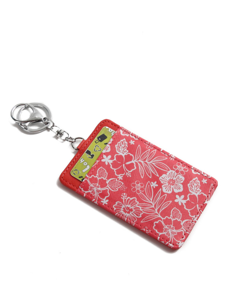 Happy Wahine Card Case April Hibiscus Blossom Red