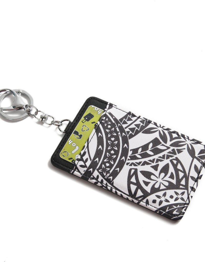 Happy Wahine Card Case April Tapa Black