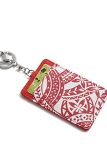 Happy Wahine Card Case April Tapa Red