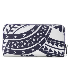 Happy Wahine Wallet Kaylee Tapa Navy