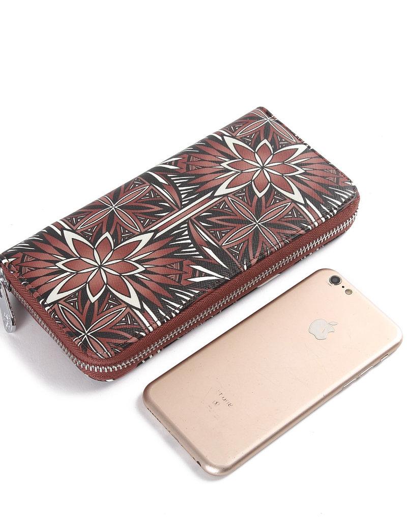 Happy Wahine Wallet Kaylee Golden Lavi Brown