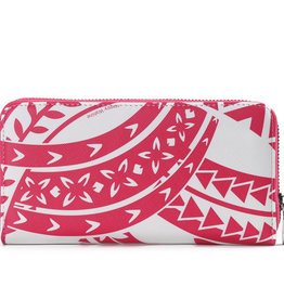 Happy Wahine Wallet Kaylee Tapa Pink