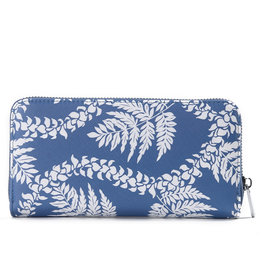 Happy Wahine Wallet Kaylee Fern Lei Blue