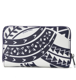Happy Wahine Wallet Chloe Tapa Navy