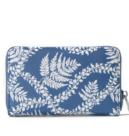Happy Wahine Wallet Chloe Fern Lei Blue