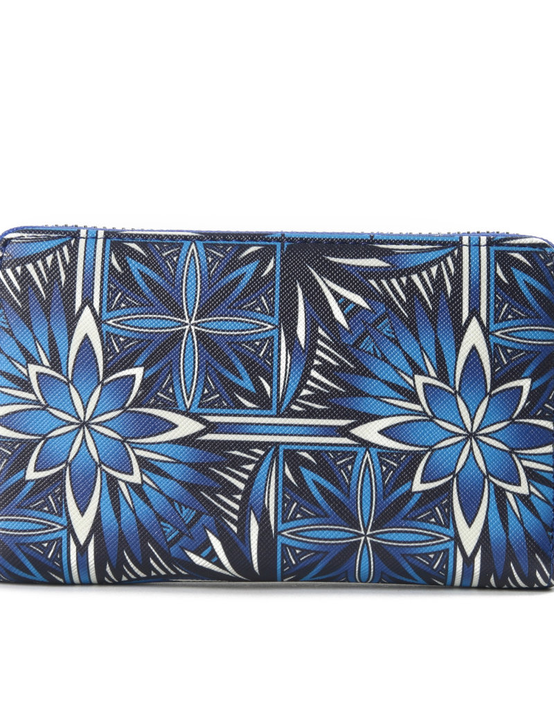 Happy Wahine Wallet Chloe Golden Lavi Blue