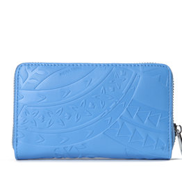 Happy Wahine Wallet Chloe Tapa Embossed Sky Blue