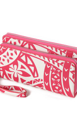 Happy Wahine Wallet Allison Tapa Pink