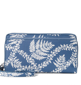 Happy Wahine Wallet Allison Fern Lei Blue