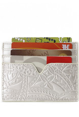 Happy Wahine Card Case Meilany Tapa Embossed Ivory