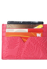 Happy Wahine Card Case Meilany Fern Lei Embossed Pink