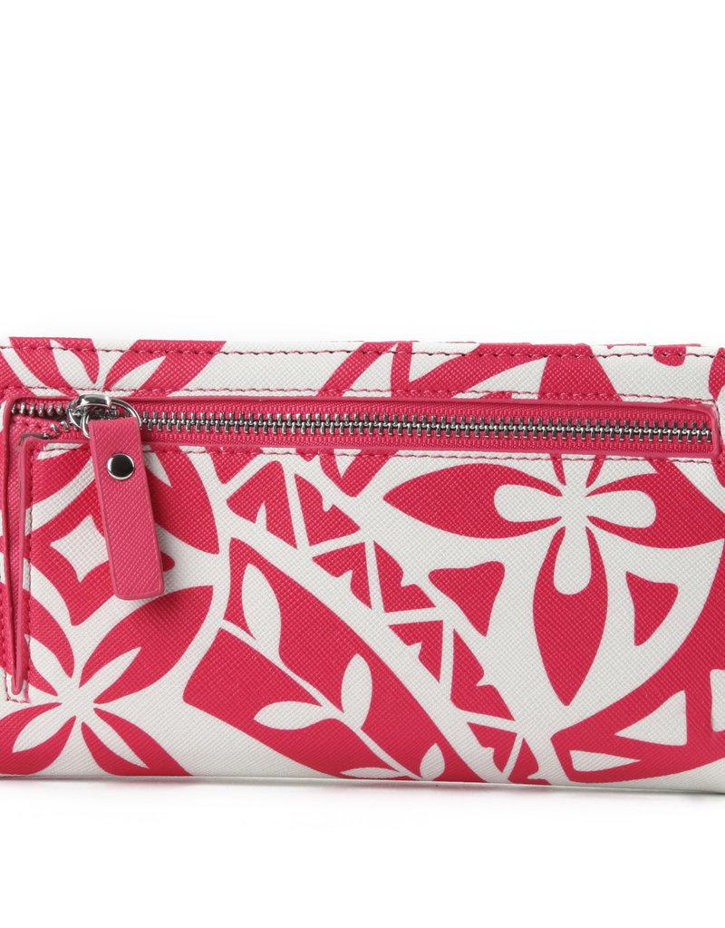 Happy Wahine Wallet Teyla Tapa Pink