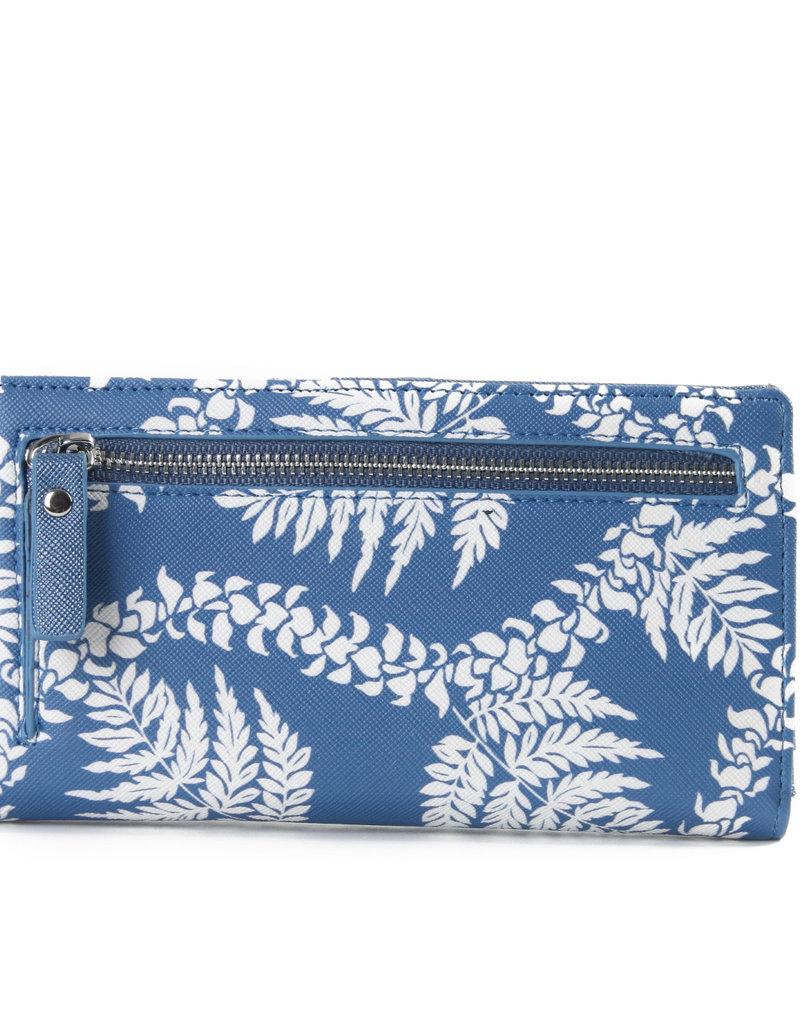 Happy Wahine Wallet Teyla Fern Lei Blue