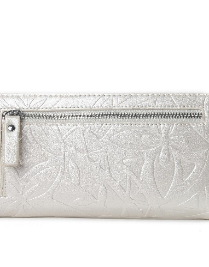 Happy Wahine Wallet Teyla Tapa Embossed Ivory