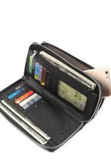 Happy Wahine Wallet Allison Tapa Embossed Black