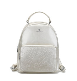 Happy Wahine Backpack Dora Tapa Embossed Ivory