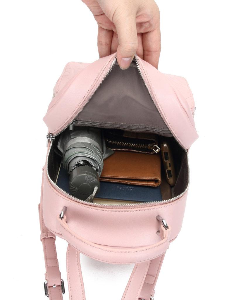 Happy Wahine Backpack Dora Tapa Embossed Blush