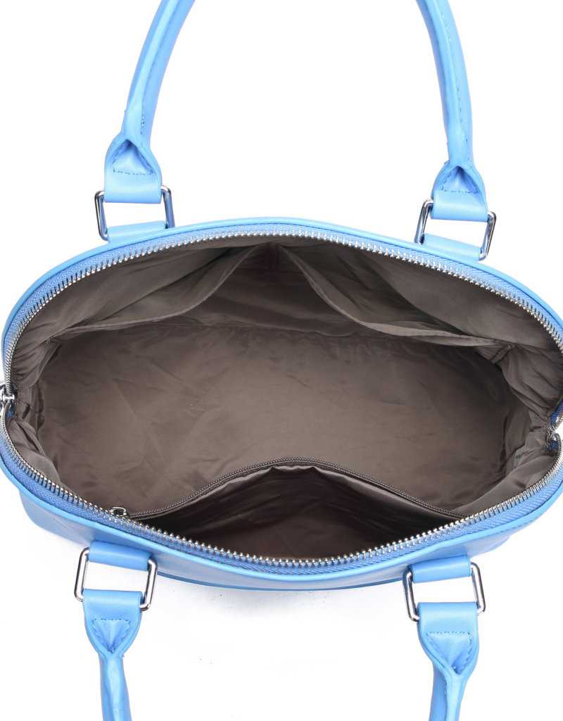 Happy Wahine Satchel Kristen Tapa Embossed Sky Blue
