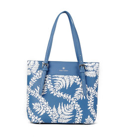 Happy Wahine Medium Tote Anny Fern Lei Blue