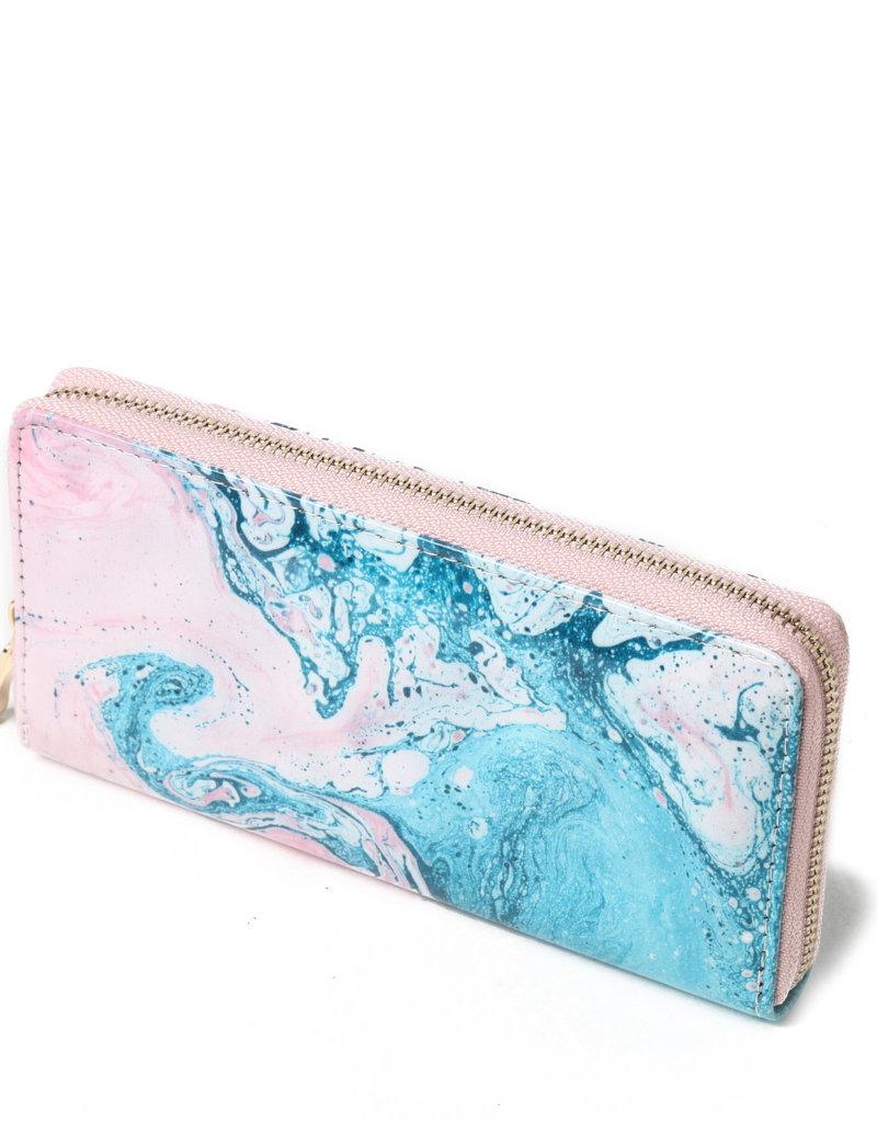 Everyday Hawaii EH Wallet Long Ocean Pink