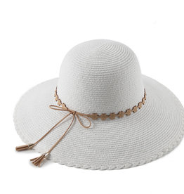 Everyday Hawaii Hat Round Sunflower White