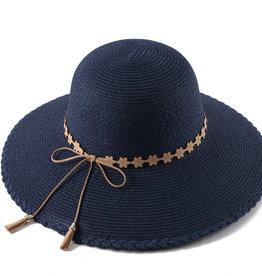 Everyday Hawaii Hat Round Sunflower Navy