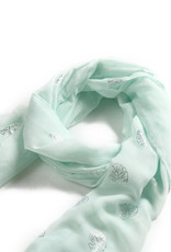 Everyday Hawaii Scarf Danielle Silver Monstera Mint