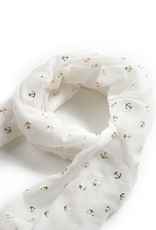 Everyday Hawaii Scarf Danielle Gold Anchor White