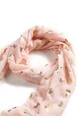 Everyday Hawaii Scarf Danielle Gold Butterfly Blush
