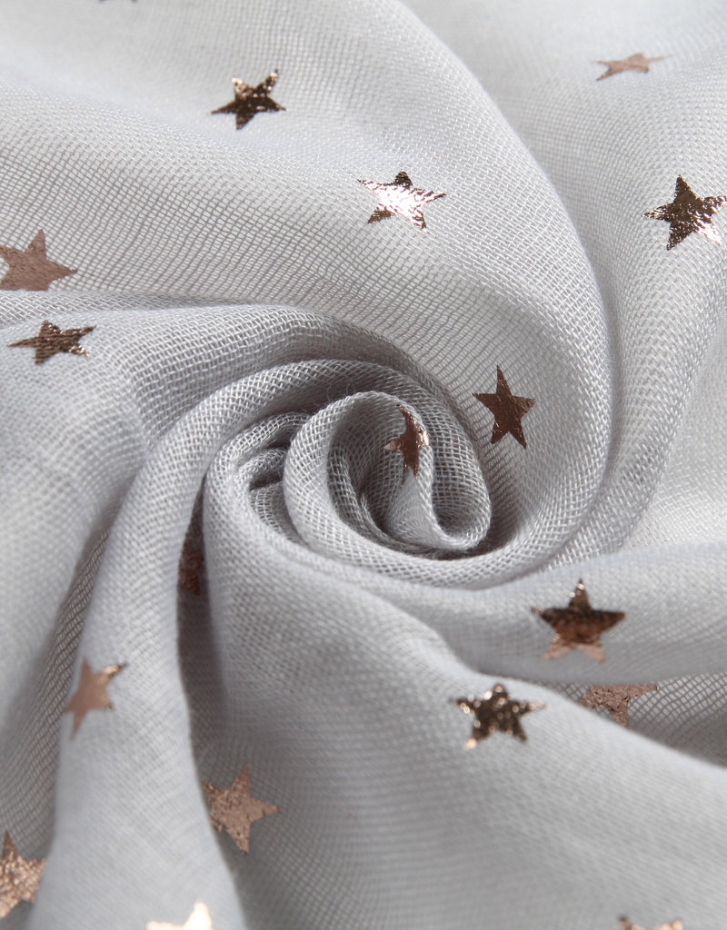 Everyday Hawaii Scarf Danielle Rose Gold Stars Grey