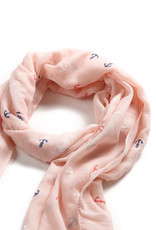 Everyday Hawaii Scarf Danielle Textured Anchor Pink