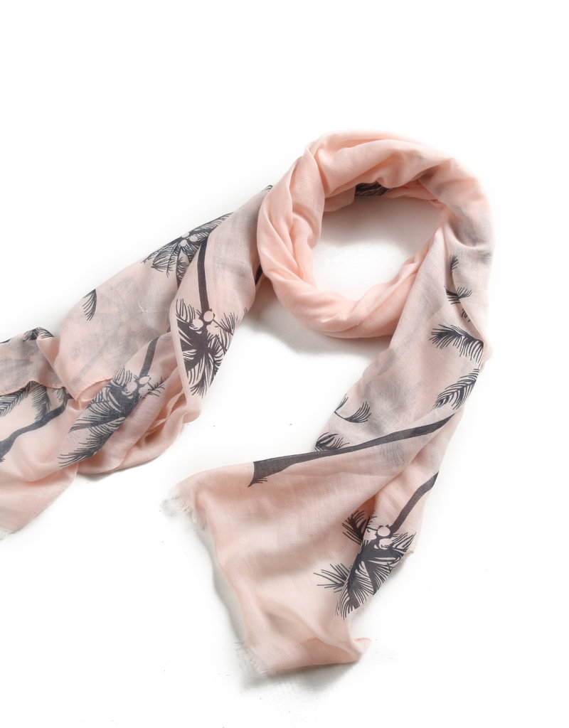 Everyday Hawaii Scarf Danielle Print Palm Tree Pink
