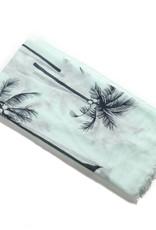 Everyday Hawaii Scarf Danielle Print Palm Tree Mint