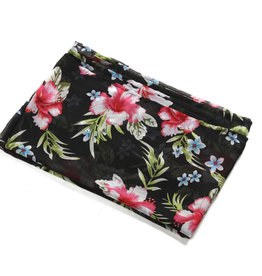 Everyday Hawaii Coverup Red Hibiscus Black