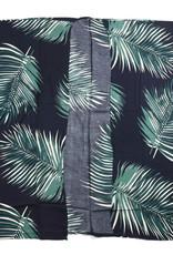Everyday Hawaii Coverup Palm Leaf Black