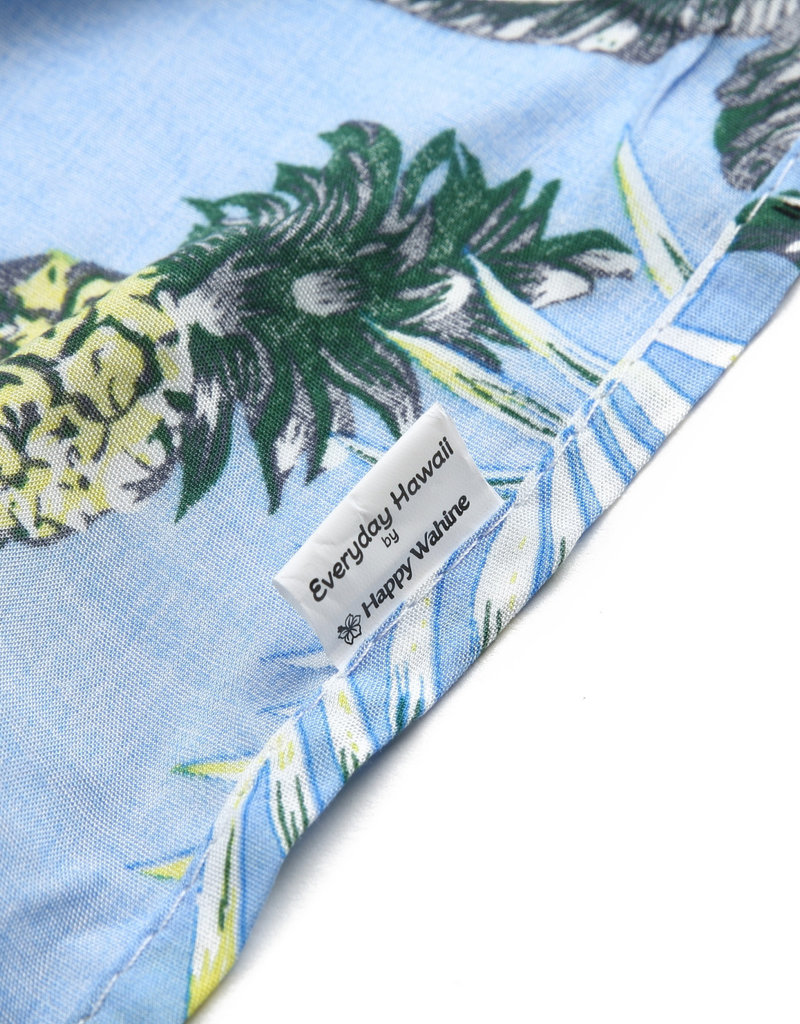 Everyday Hawaii Coverup Pineapple Palm Light Blue