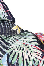 Everyday Hawaii Coverup Multi Color Monstera Black