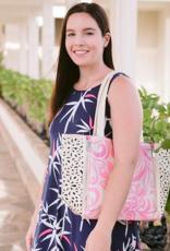 Happy Wahine Handbag Amy Hibiscus Light Pink Large